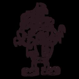 Ilustración de halloween del monstruo de Frankenstein
