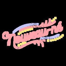 Letras de recém-nascido francês