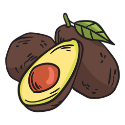 Fruit avocado mexico illustration