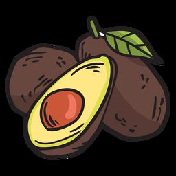 Ilustração de frutas abacate méxico