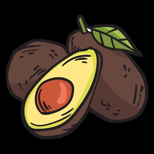 Ilustración de fruta aguacate mexico