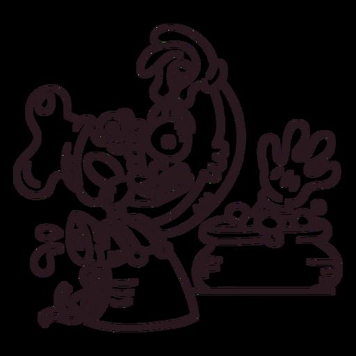 Monstruo de trazo espeluznante de Halloween Transparent PNG