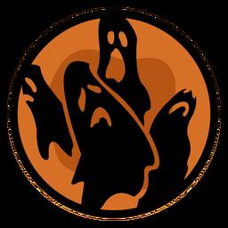 Halloween Papercut Geister