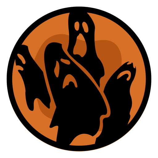 Halloween papercut ghosts Transparent PNG