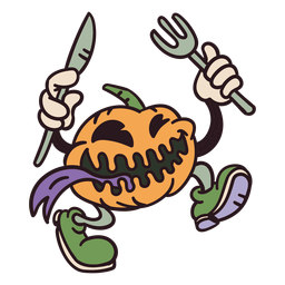 Halloween pumpkin monster