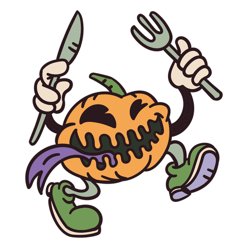 Halloween pumpkin monster Transparent PNG