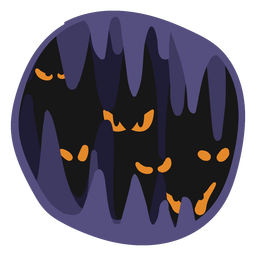Halloween scary papercut illustration