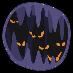 Ilustración de papercut de miedo de Halloween