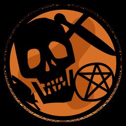 Halloween skull papercut
