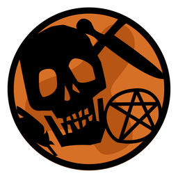 Papercut de caveira de Halloween