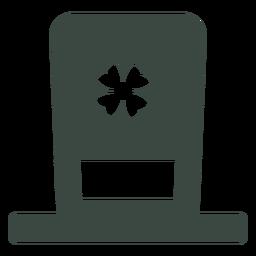 Sombrero de duende irlandés icono