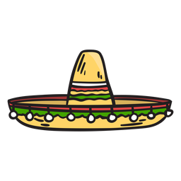 Hat mexico sombrero illustration