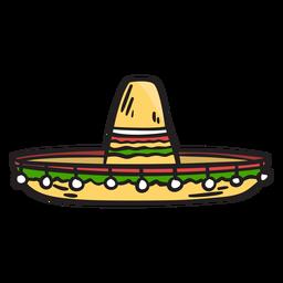 Ilustração de sombrero do chapéu méxico
