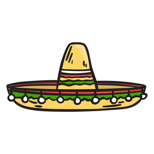 Hat mexico sombrero illustration