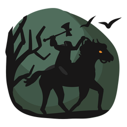 Headless horseman halloween papercut