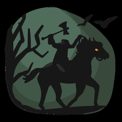 Headless horseman halloween papercut