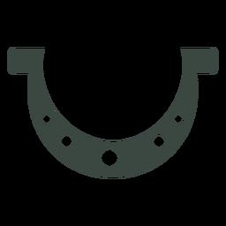 Icono de símbolo de herradura