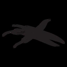Ilustração de silhueta de pimenta quente