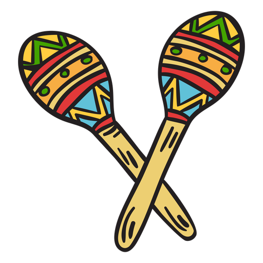 Maracas mexico instrument shakers illustration Transparent PNG