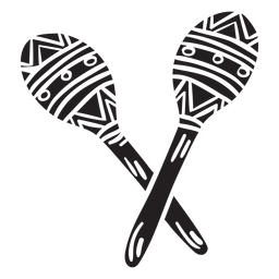Ilustración de silueta de maracas