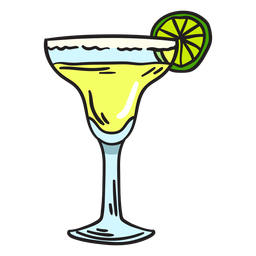 Ilustración de bebidas Margarita