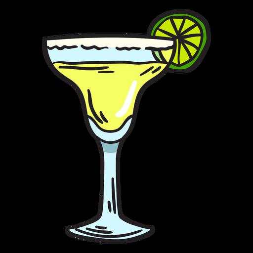 Margarita beverage illustration