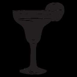 Margarita silueta mexico ilustración