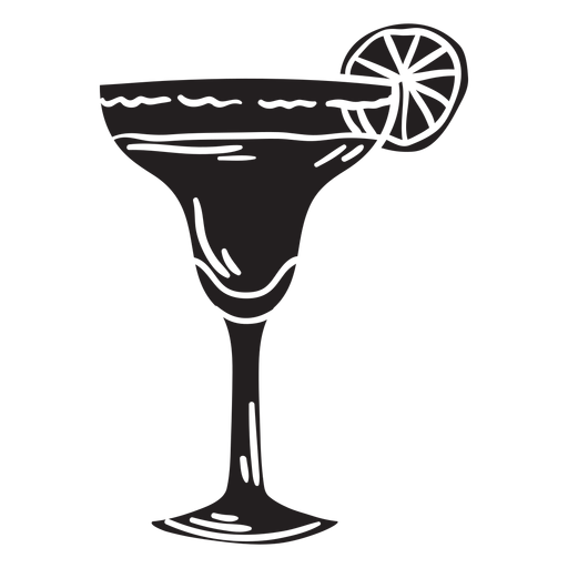 Margarita silhouette mexico illustration