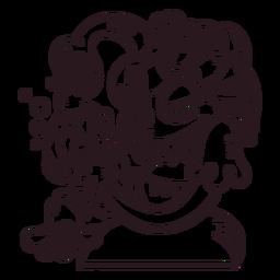 Medusa cartoon ilustração de halloween