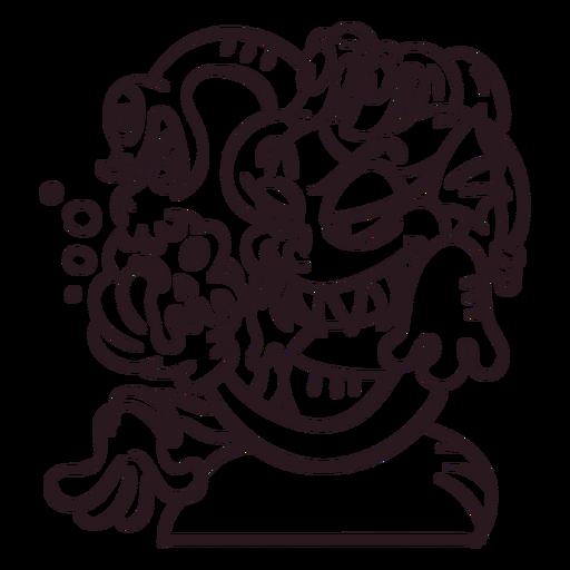 Ilustraci?n de halloween de dibujos animados de medusa
