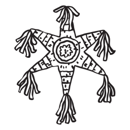 Trazo de piñata estrella mexicana