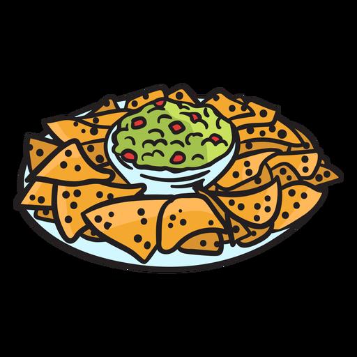 Mexican nacho illustration