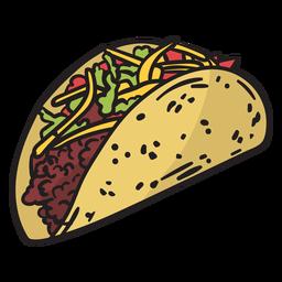 Ilustração de comida colorida do México