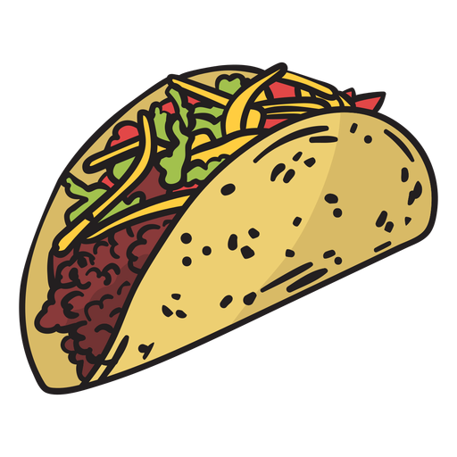 Mexico food color illustration