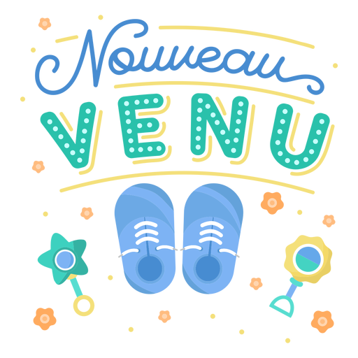 Newcomer baby french lettering Transparent PNG