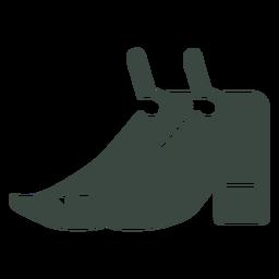 Ícone de silhueta de sapatos par