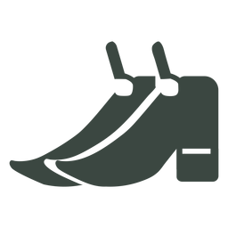 Pair shoes silhouette icon