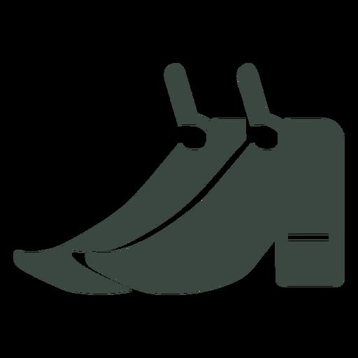 Par de zapatos icono de silueta Transparent PNG