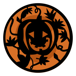 Ilustração de laranja papercut abóbora