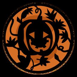 Papercut calabaza naranja ilustración