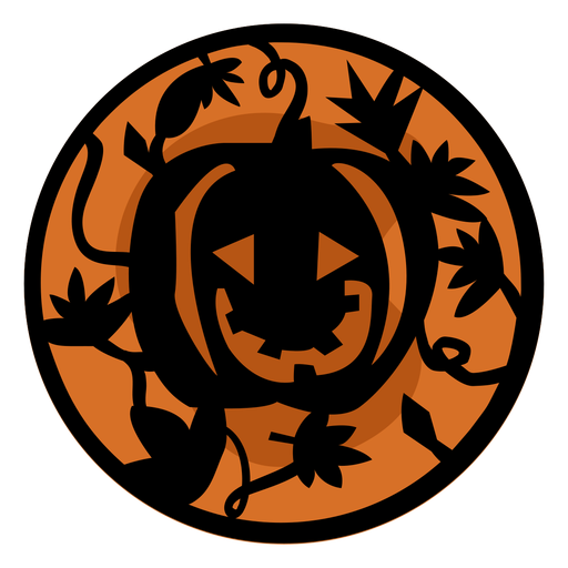 Papercut calabaza naranja ilustración Transparent PNG