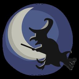 Ilustração de halloween bruxa papercut