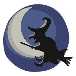 Ilustración de halloween bruja papercut