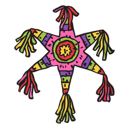 Pinata mexican star colorful illustration