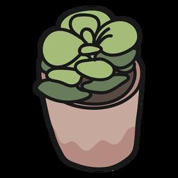 Ilustração de planta suculenta acidente vascular cerebral