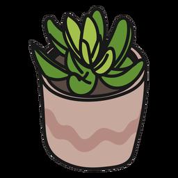 Grüne ruhige Illustration der Pflanzensucculents