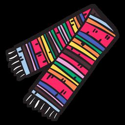 Ilustración de méxico bufanda de sarape