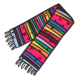 Serape scarf mexico illustration