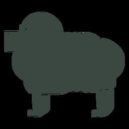 Icono de silueta de oveja