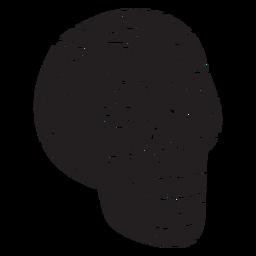 Ilustración de silueta calavera mexico